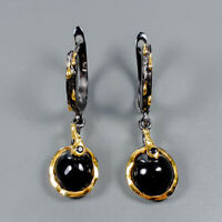 Spinel Earrings Silver 925 Sterling Handmade SET9x8mm  /E38327