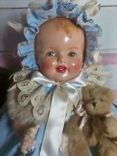 """Victorian Dressed Antique Vintage 26"""" composition Baby Doll"""