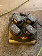 Symbol Motorola Sac9000-4000 4 Slot Battery Charger w/ Adaptor and 8 Batteries.