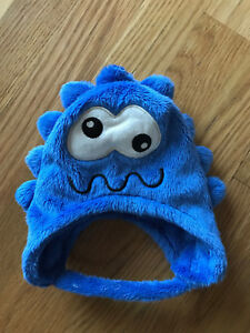 CHILDRENS PLACE 0-3 MONTHS Blue Monster FLEECE Winter HAT Baby Infant