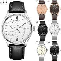 Parnis 21 Jewels Miyota Automatic Movement Sapphire Men Watch 24-Hours Dial Date