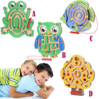 Child Magnetic Maze Toys Kids Wooden Game Toys Wooden Intellectual Jigsaw Board