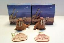 Holy Herd Noah's Ark Walter and Wendy Walrus Figures with Boxes Pete Apsit