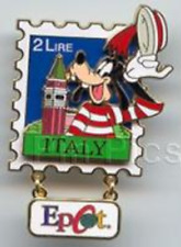 Disney Pin: EPCOT Stamp Pin Series #5 - Italy (Goofy) LE 3500