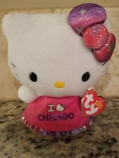 "2012 TY Beanie Baby Hello Kitty I Love Chicago Dress Plush Stuffed toy 6"" NWT"