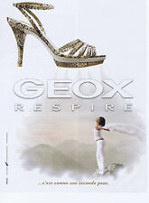 PUBLICITE ADVERTISING 064 2010 GEOX Respire chaussure pour femme