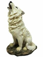 More details for novelty howling wolf figurine statue ornament