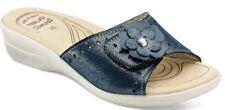 TIGLIO  PANTOFOLE CIABATTE aperte  da donna  art. 2302 blu  slippers