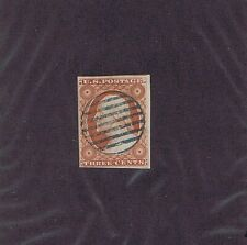 Sc# 10A Var Used, 3 Cent Washington, 1851, Blue Grid Cancel, 2019 Psag Cert