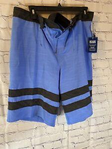 NWT ROUNDTREE & YORKE Surf Swimwear Men's Board Shorts Size 38 Blue &Black