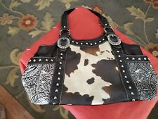 Concealed Carry Purse Imitation Cowhide pattern