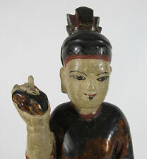 Thai Burma Mandalay Rangoon Yangon Wood Spirit Nat Demon Sprite Temple Image yqz