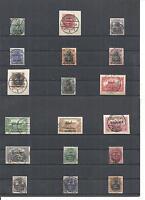 Allenstein 1920, Michelnrn: 1 - 28 o, gestempelt o, Einzelmarken zur Auswahl