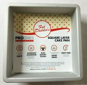 Fat Daddio's Square Layer Cake Pan Pro Series Baking 9x9x2 Anodized Aluminum