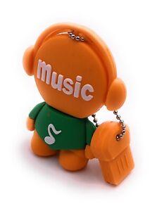 Music Man Figur Orange Funny USB Stick div Kapazitäten