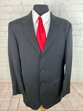 Cesarani Men's Gray Textured Super 100s Wool Blazer 42R $225