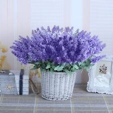 60/80/100 Heads Lavender Flowers Silk Artificial Bouquet Wedding Home Party