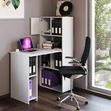 VICCO Schreibtisch Regalkombination 8 Fächer Weiß - Arbeitstisch Bürotisch Regal