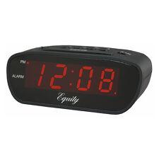 Equity by La Crosse 12 Volt Alarm Clock Trucker RV Recreational Vehicle Black
