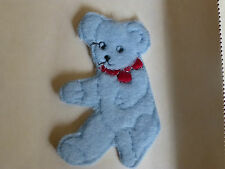 Vintage Teddy Bear Motif/Patch. Made in England in the 1960's