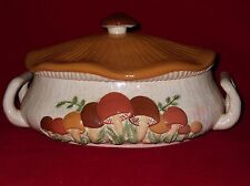Arnels Mushroom Large Casserole Serving Dish w/Cover