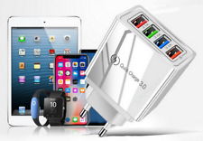 CARICATORE CARICABATTERIE CON 4 PORTE USB CARICA VELOCE IPHONE SAMSUNG ANDROID