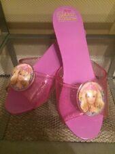 Barbie Island Princess Dress Up Shoes Purple Plastic And Gel+Pendant SZ 10