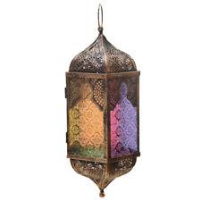 ORIENTALISCHE LATERNE antik METALL MAROKKANISCHE LAMPE GLAS Marakesch