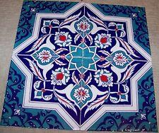 "Set of 20 8""x8"" Defective Turkish Iznik Floral & Geometric Pattern Ceramic Tile"