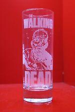 Laser Engraved Highball Glass Walking Dead Zombies Comic Art