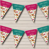 Cakes Baking Sweets Personalized Childrens Party Bunting Banner