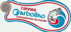 Autocollant. Pêche Cannes GARBOLINO