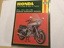 HONDA CX500 GL500 CX650 GL650 C D E I D2 HAYNES OWNERS WORKSHOP MANUAL 1978-1986