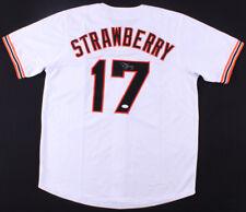 Darryl Strawberry Signed San Francisco Giants Jersey (JSA) 8× All-Star 1984–1991