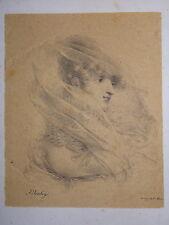 J.B ISABEY 1767-1855 Litho ORIGINALE PORTRAIT Melle LEDIEU ROMANTISME IFF13 H86
