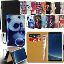 Leather Smart Stand Wallet Cover Case For Samsung Galaxy Note Phones
