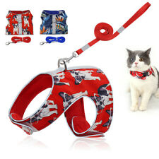 Reflective Puppy Cat Harness and Leash for Walking Escape Proof Mesh Padded Vest