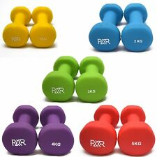 10 x NEOPRENE DUMBBELLS AEROBIC FITNESS WEIGHT GYM TRAINING SET 1/2/3/4/5kg