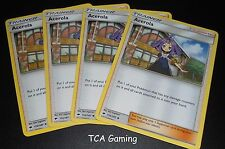 4x Acerola 112/147 SM Burning Shadows Set TRAINER Pokemon Card NEAR MINT