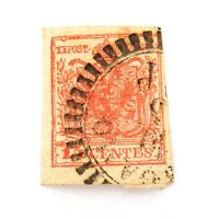 .AUSTRIAN OFFICES ABROAD, LOMBARDY VENETIA IMPERF 15c UH STAMP.