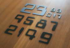 Acrylic Numbers & Symbols Cyber - Home Plaque Sign - Black White Gold Silver