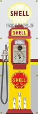 SHELL STATION OLD TOKHEIM VINTAGE CLOCKFACE GAS PUMP BANNER SIGN MURAL ART 2'X6'