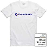 Commodore 64 T Shirt Officially Licenced Vintage 8 Bit Colour Mixed Font Logo