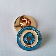 Animals-Remembered Association -Blue Poppy - War Animals - Remembrance Lapel Pin