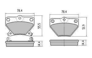 REAR DISC BRAKE PADS for Toyota Corolla ZZE122 1.8L 12/2001-6/2007 RDB1429