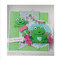Stanzschablone Frosch Tier Hochzeit Weihnachten Geburtstag Oster Karte Album DIY