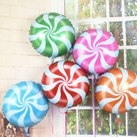 Candy LolliPeppermint Party Wedding Foil Helium Balloon DecorationTG