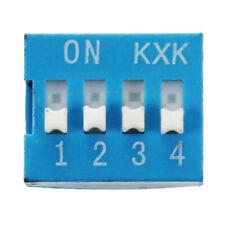 10 Pcs 2 Row 8 Pin 4P Positions 2.54mm Pitch DIP Switch Blue C5D2