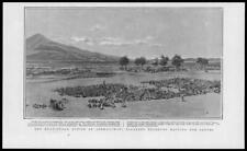 1904 Antique Print - RUSSO JAPANESE WAR Anshanchan Reserves Soldiers  (305)