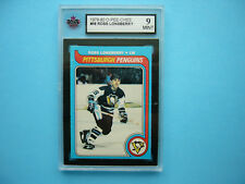 1979/80 O-PEE-CHEE OPC NHL HOCKEY CARD #58 ROSS LONSBERRY KSA 9 MINT SHARP+
